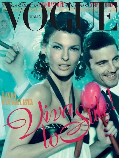 Linda Evangelista - Ph: Steven Meisel for Vogue Italia May 2012 Cover