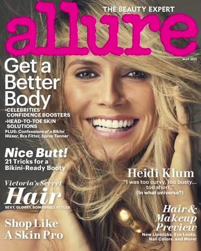 Heidi Klum - Ph: Norman Jean Roy for Allure May 2012 Cover