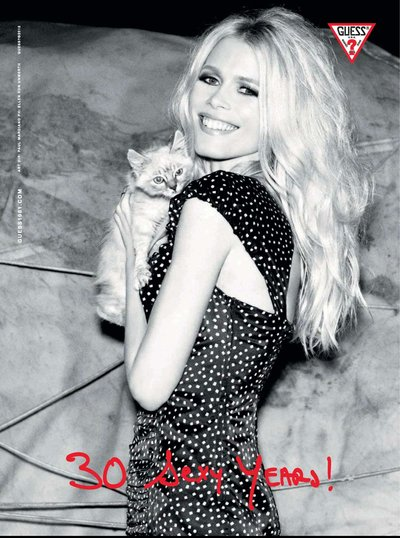 Claudia Schiffer - Ph: Ellen Von Unwerth for Guess