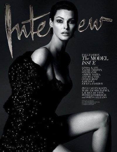 Linda Evangelista - Ph: Mert Alas and Marcus Piggot for Interview Sept 2013