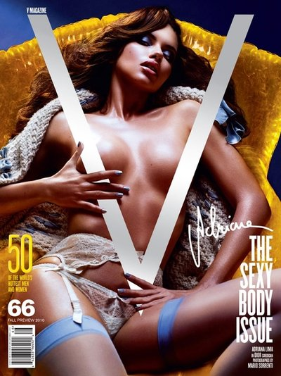 Adriana Lima - Photo: Mario Sorrenti for V Magazine #66
