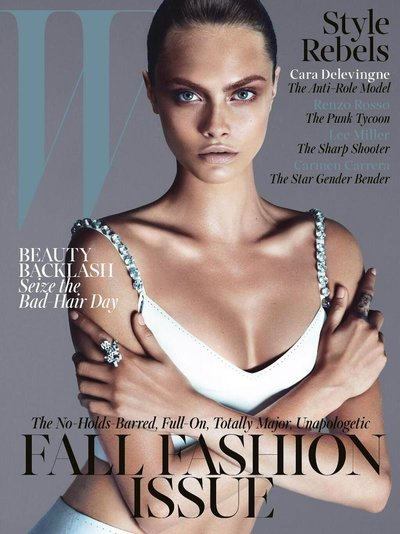 Cara Delevingne - Ph: Mert Alas and Marcus Piggot for W Magazine Sept 2013