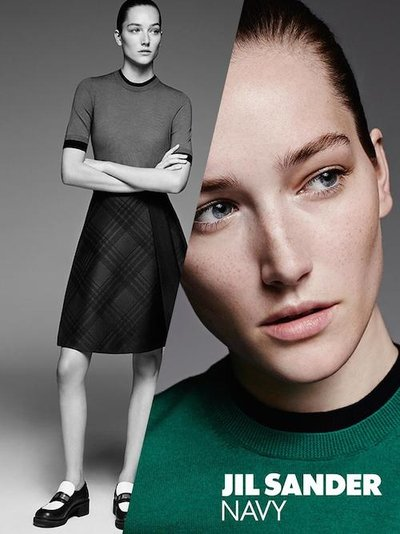 Josephine Le Tutour - Ph: Karim Sadli for Jil Sander Navy F/W 14