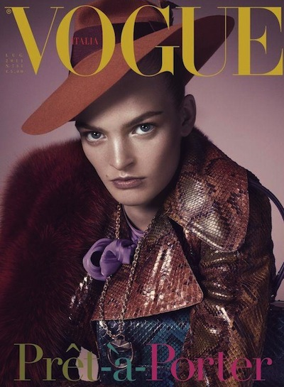 Juliane Grüner - Steven Meisel for Vogue Italia July 11