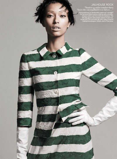 Anais Mali - Photo: David Sims for American Vogue, courtesy of DNA