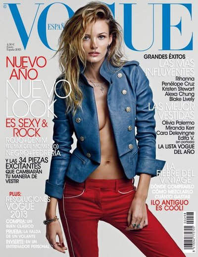 Edita Vilkeviciute - Photo: Patrick Demarchelier for Vogue Espana Jan 2013
